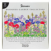 Designer Garden Pre-Assembled 12pc Border Wildlife Attracting Flower Seed Collection Kit