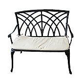 Bentley Garden Cast Aluminium Bench With Cushion