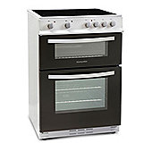 Montpellier MTC60FW 600mm Twin Cavity Electric Oven & Grill Fan Oven Wh