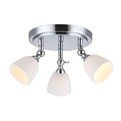 Litecraft Opal ceramic 3 light round spotlight