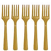 Gold Plastic forks - 20 Pack