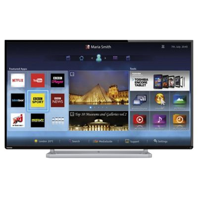 toshiba 42l6453 42 inch smart wifi built in full hd 1080p led tv with freeview hd