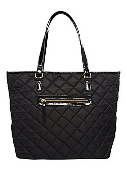 F&F Quilted Nylon Tote Bag