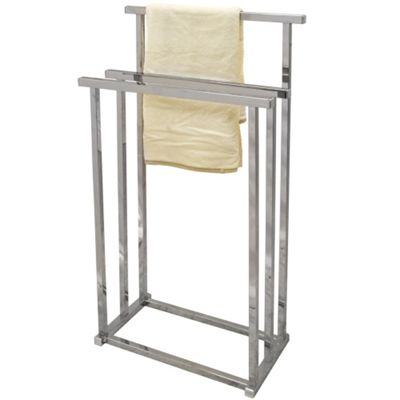 Pizo - Metal 3 Rung Towel Rail / Drying Rack - Silver