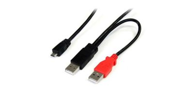 StarTech USB Y Cable for External Hard Drives (0.3m)