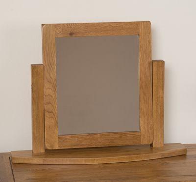 Cotswold Rustic Solid Oak Dressing Table Swivel Mirror