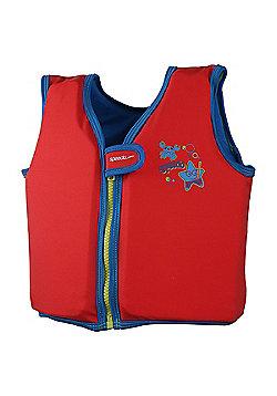 Speedo Sea Squad Infant Toddler Kids Boys Swim Float Vest Red - 2-4 Years