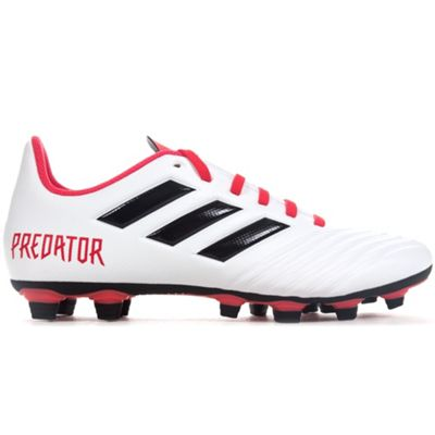 adidas Predator 18.4 Firm Ground Football Boot White Cold Blooded - UK 11