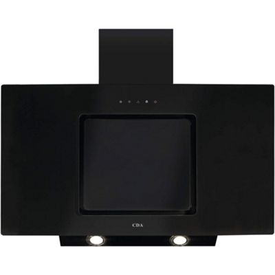 CDA 90cm Touch Control Angled Chimney Cooker Hood Black