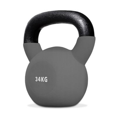 SnatchFlex Rubber Coated Cast Iron Kettlebell 34KG