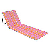 Folding Sun Lounger Beach Mat Pink