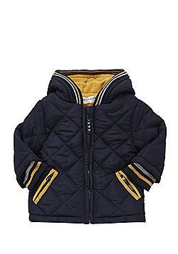 Babaluno Quilted Hooded Jacket - Navy