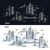 Nightscape Glow In The Dark Children's Wall Stickers