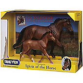 Breyer GG Valentine & Heartbreaker Horse Figure Set (1:9 Scale)