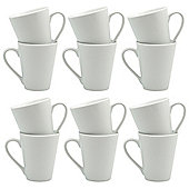 White Latte Coffee Tea Mugs - 285ml (10oz) - Box of 12