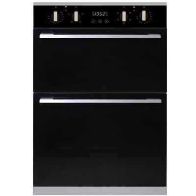 SIA 60cm Integrated Built In Multi Function Programmable Electric Double Oven