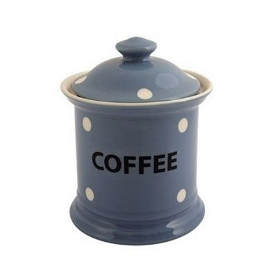 Fairmont and Main Blue Spotted Coffee Storage Jar KNSB51