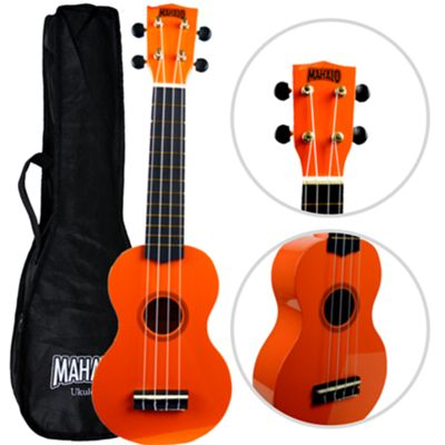 Mahalo 2511 Rainbow Soprano Ukulele - Orange