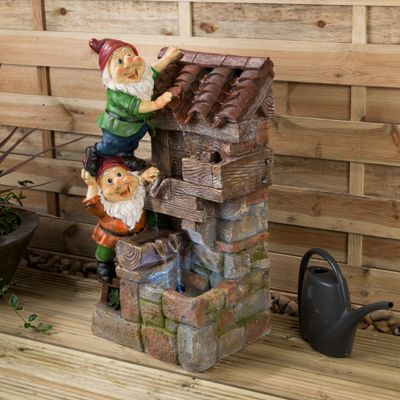 Christow LED Gnome Water Feature - Bill & Bob