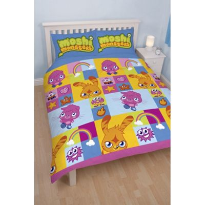 Moshi Monsters 'Monsters' Reversible Rotary Double Bed Duvet Quilt Cover Set