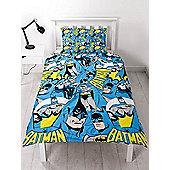 Batman Hero Single Duvet Cover and Pillowcase Set