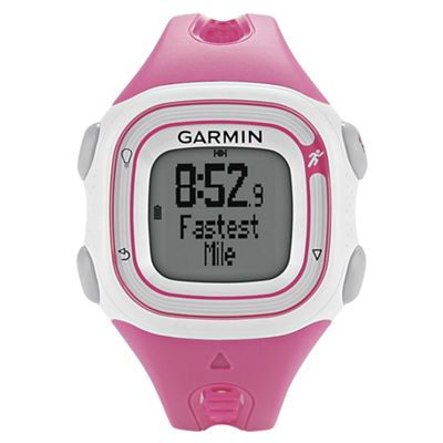 Garmin Forerunner 10 GPS Running Watch, Pink and White