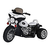 Homcom Children Ride on Toy Kids Motorbike 6V Battery Operated Toy Trike (Black)