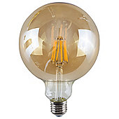 Vintage 6W LED Filament Amber Giant Globe Lightbulb ES E27 - Warm White