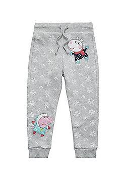 Peppa Pig Snowflake Joggers - Grey