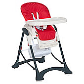 Homcom Highchair Baby Toddler Foldable Feeding Compact Safety Belt - Red