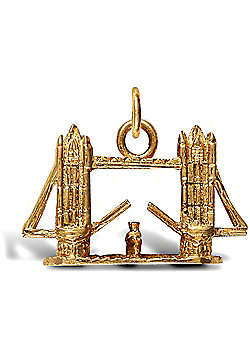 Jewelco London 9ct Solid Gold tower bridge Pendant charm