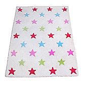 Colourful Stars Children's Rug
