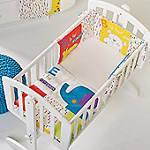 OBaby B is For Bear Crib Set (Happy Safari)