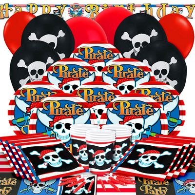 Pirate Skull Deluxe Party Pack for 16