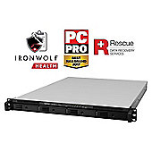 Synology RackStation RS815RP+/40TB-IW Pro 4-bay 40TB(4x10TB Seagate IronWolf Pro) high performance 1U NAS with dual power supplies for business servic