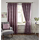 Fusion Isla Pencil Pleat Curtains - Heather purple