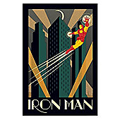 Gloss Black Framed Marvel Deco Iron Man Poster