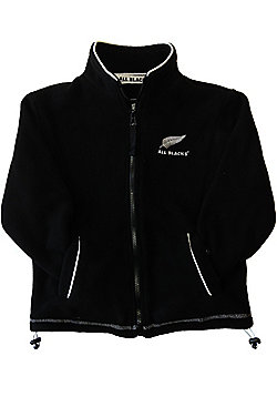 New Zealand All Blacks Rugby Kids Full Zip Fleece - Black