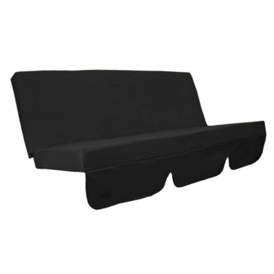 Black Water Resistant Bench Cushion for Outdoor Swing Hammock Garden Seat Pad