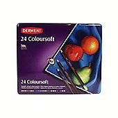 Derwent Coloursoft 24 Tin