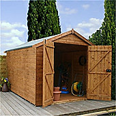 Windowless Overlap Apex Shed With Double Doors Garden Wooden Shed