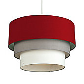 Aztec Three Tiered Non Electric Ceiling Light Shade in , Grey & White
