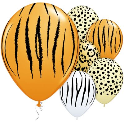 Safari Assorted 11 inch Latex Balloons - 25 Pack