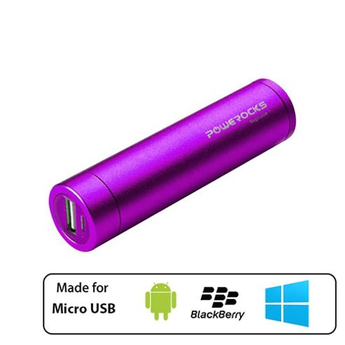 Powerocks Portable Universal External Battery Charger 2800mAh Purple by Cleverboxes