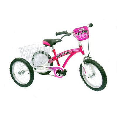 "Concept Pedal Pals 16"" Wheel Trike, Pink/White"