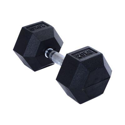 HOMCOM Rubber Dumbbell Weight (1 x 20KG)