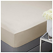 Silentnight 100% Cotton Fitted Sheet Single Taupe