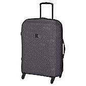 IT Luggage Frameless 4-Wheel Charcoal with Black Honeycomb Medium Suitcase