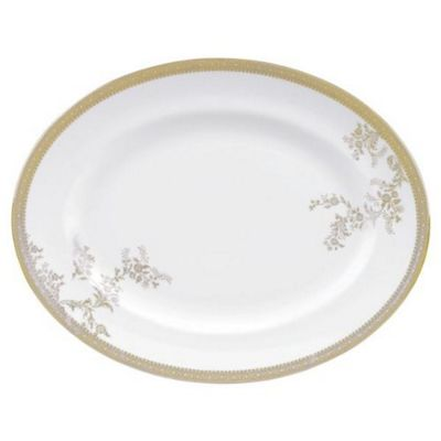 Wedgwood Vera Wang Lace Gold Oval Dish 35cm