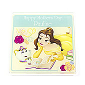 Beauty and the Beast Personalised Mother's Day Coaster (Single)